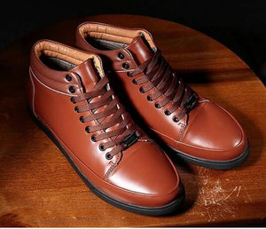 2017 Spring And Autumn Men's Shoes Casual Men Boots High Quality Leather Cowhide (1 pair)