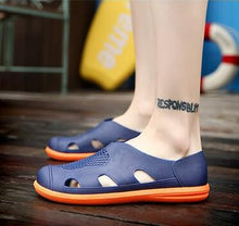 Man Sandals Hollow Outdoor Jelly  Breathable Hole cutout Slip