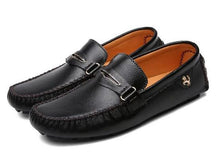 Men's Leather Loafers Slip On Boat
