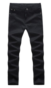 Men's Stretchy Casual Black Denim Jeans