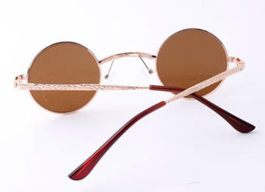 Cameo Detailed Frames Round Style Fashion Sunglasses