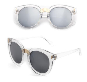 Butterfly Shape Mirrored Lenses Women's Fashion Sunglasses