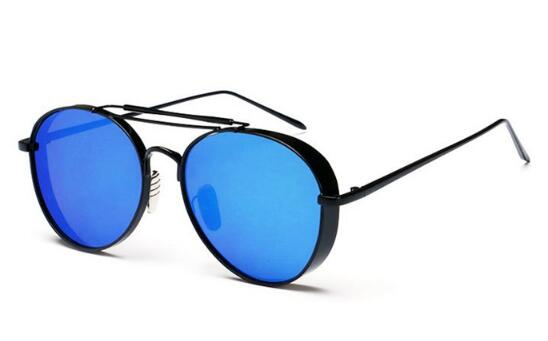 Thickened Metal Frames Mirrored Lenses Fashion Sunglasses for Women