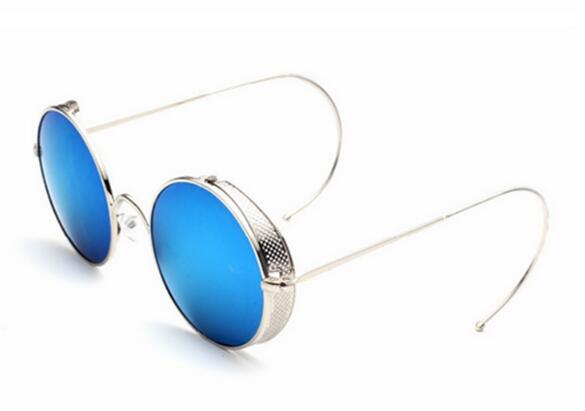 Mirrored Lenses Thickened Metal Frames Fashion Sunglasses