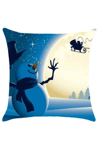 Snowman Adventure Christmas Throw Pillow Case