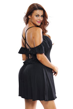 Sweet Sexy Black Backless Skater Dress