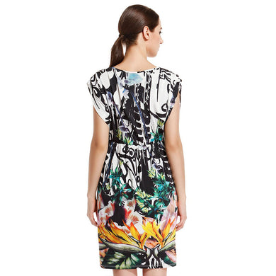 Women'S Elegant Print Dress Spring And Summer Floral Print Dress