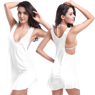 Match Bikini Casual Style Raceback Tank Top Women's Wild Bathing Suit Cover-ups