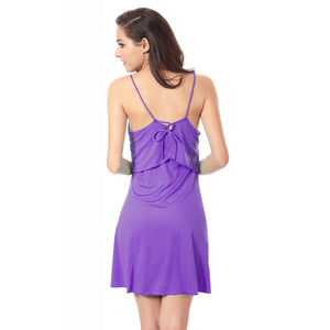 Feminine Flounce Top Cross - tied Back Women's Beach Wrap Dresses
