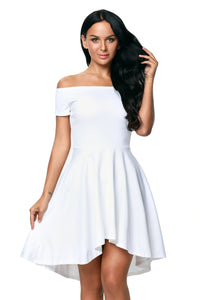 White All The Rage Skater Dress