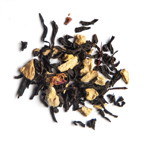Jar of Dusk signature black tea with rose, saffron and ginger