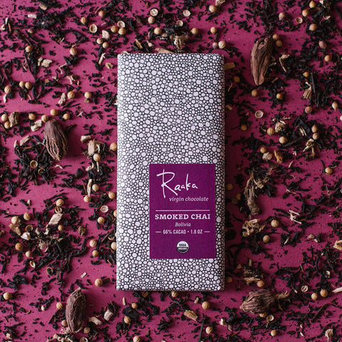raaka smoked chai vegan bean to bar chocolade