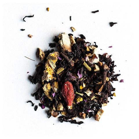 a yule kiss winter tea blend