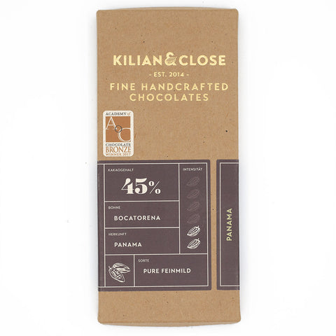 Killian & Close panama 45 bean to bar vegan chocolade