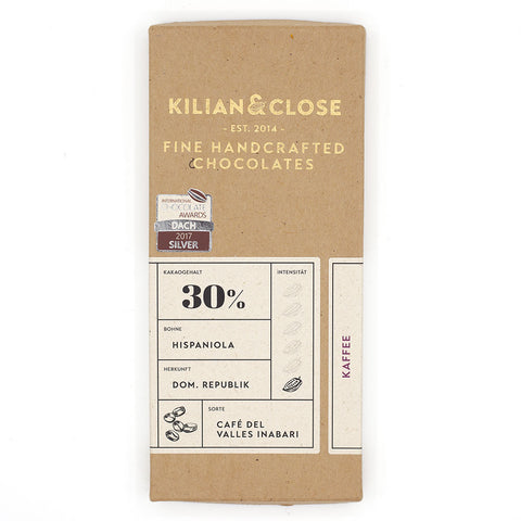 killian & close koffie witte vegan chocolade bean to bar