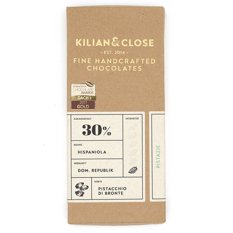 killian & close pistache witte vegan chocolade bean to bar