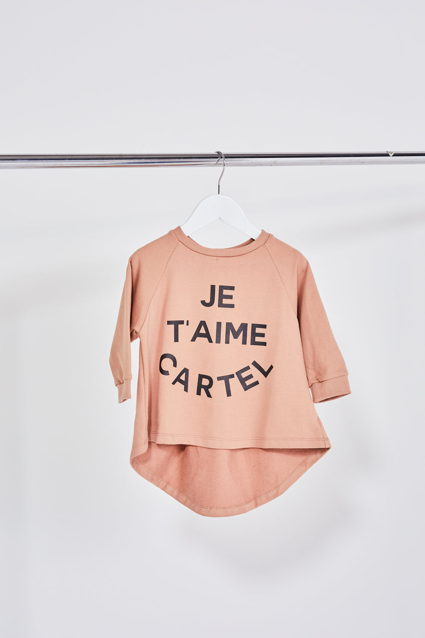 MINI Je Taime Sweater - Blush - Cartel & Willow Kids