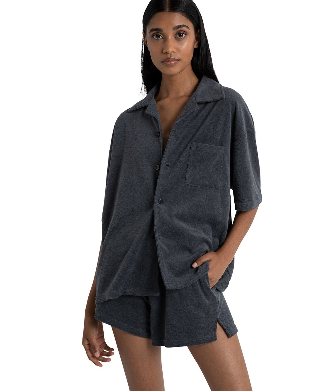 Ella Oversized Shirt - Blue