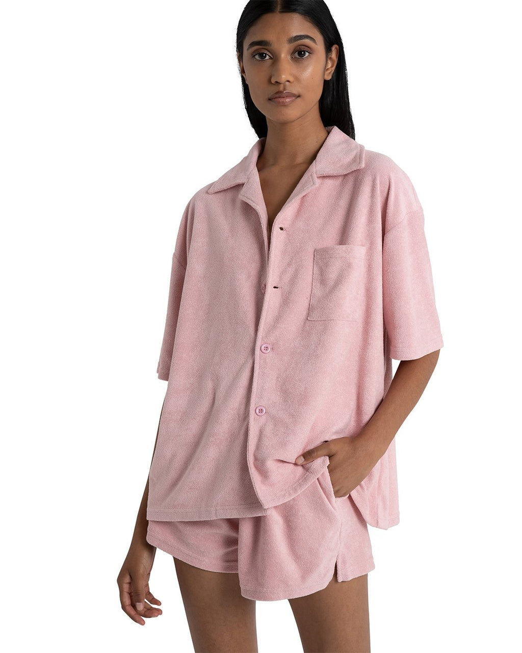 Ella Oversized Shirt - Dusty Pink