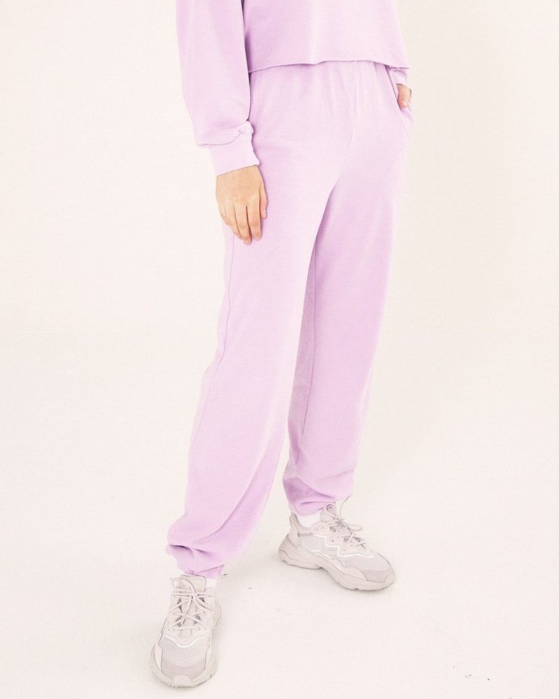 High Waisted Pants - Lilac