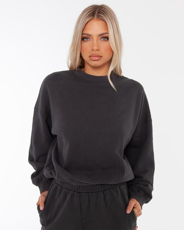 Oversized Sweater - Charcoal