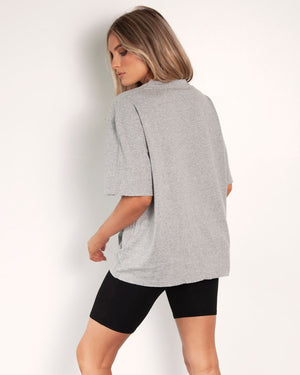 Boyfriend T-Shirt - Grey Marle