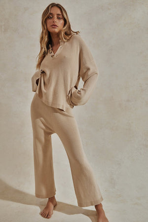 Hero Knit Pants - Beige