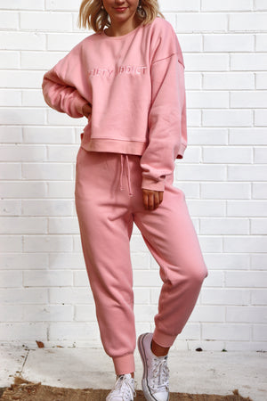 Society Addict Track Pants - Pink