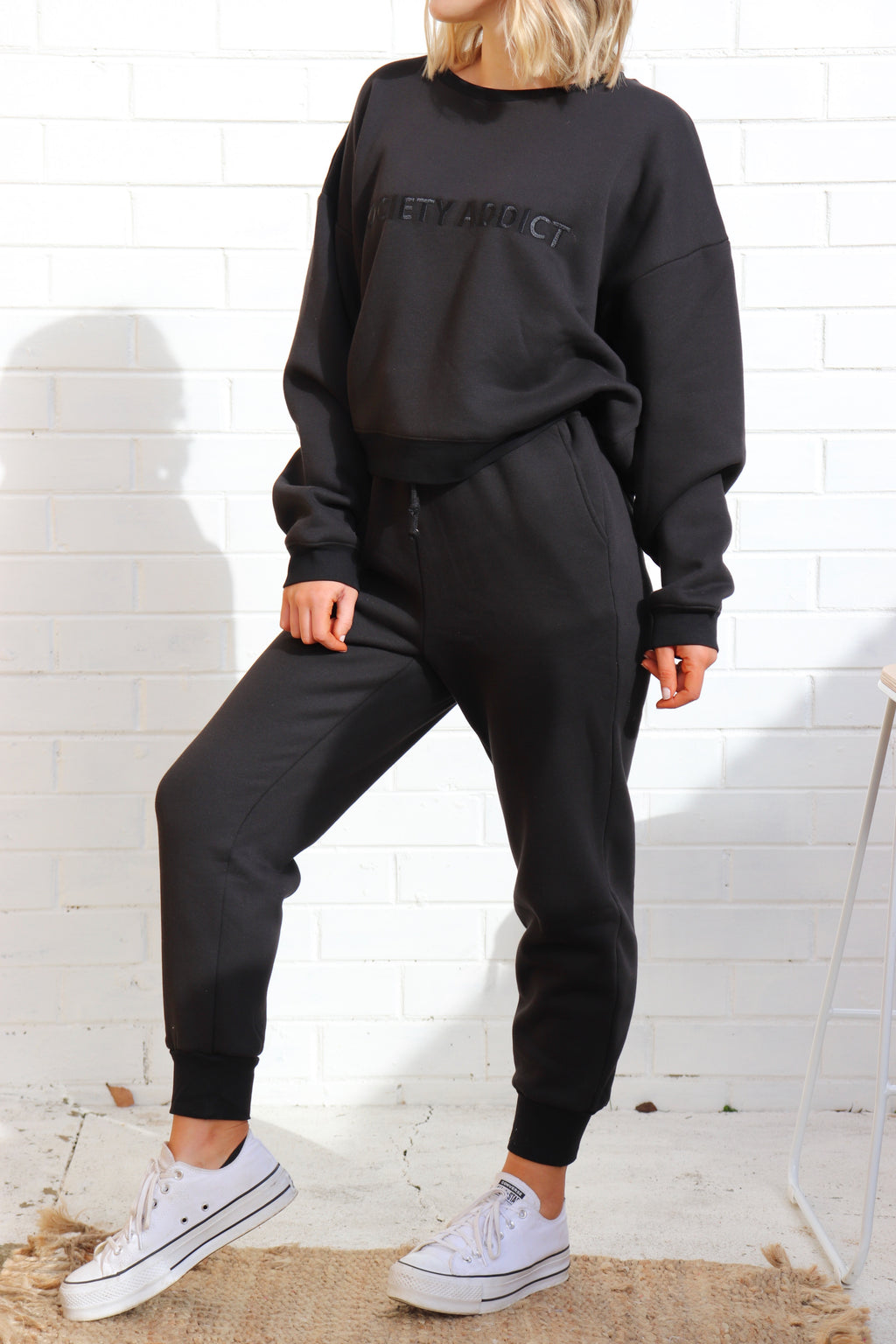 Society Addict Track Pants - Black