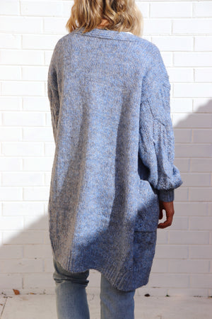Willow Cardigan - Blue