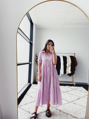 Hayley Tiered Maxi Dress - Lilac