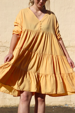 Sweet Daisy Dress - Mustard