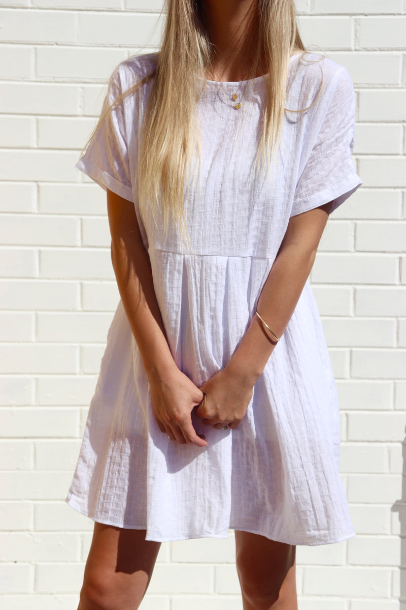 Lola Shift Dress White