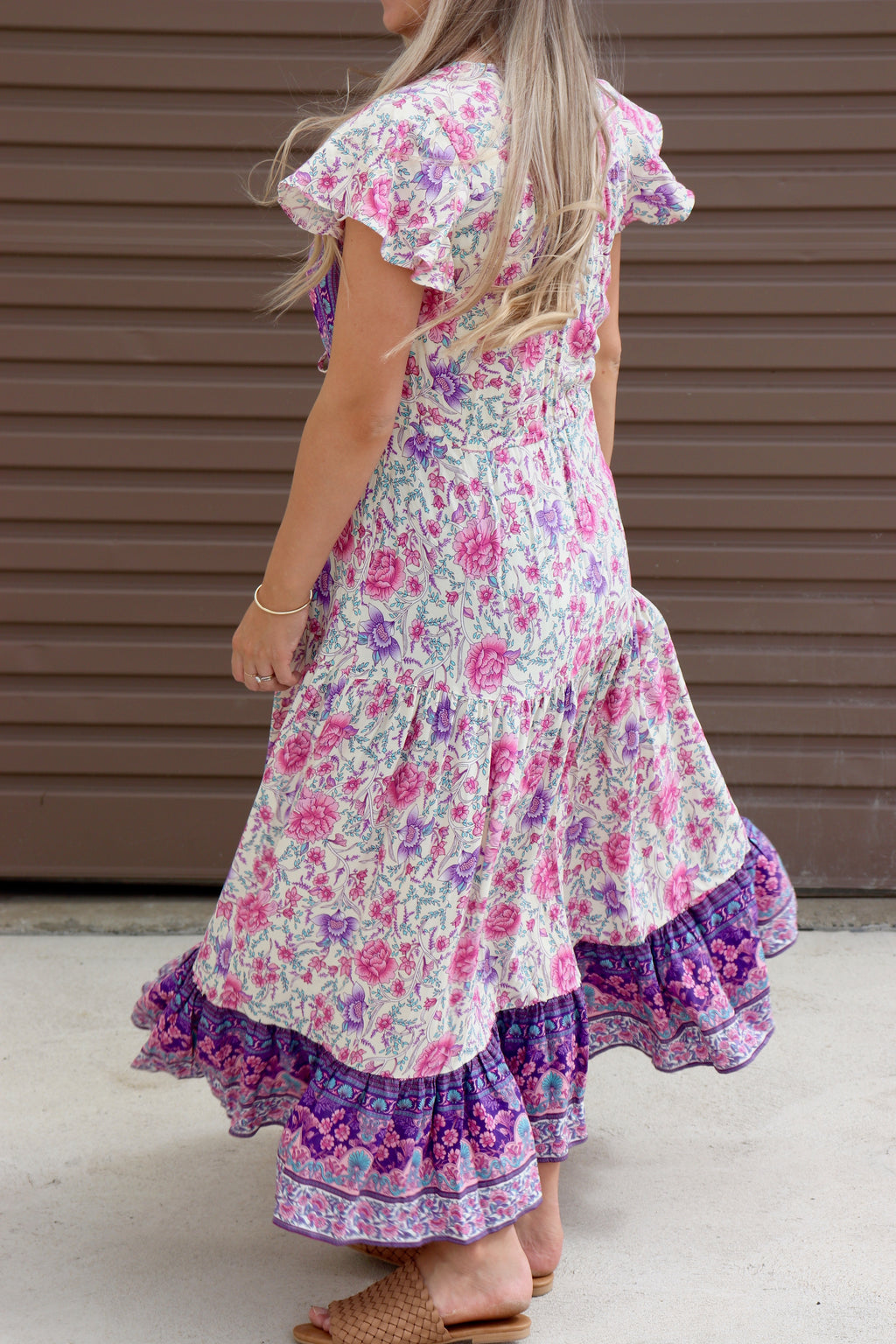 Stevie Maxi Dress - Purple Floral