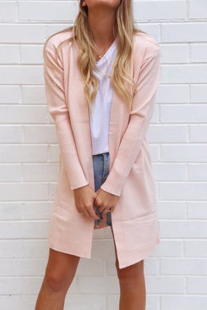 Take Me With You Cardigan - Baby Pink