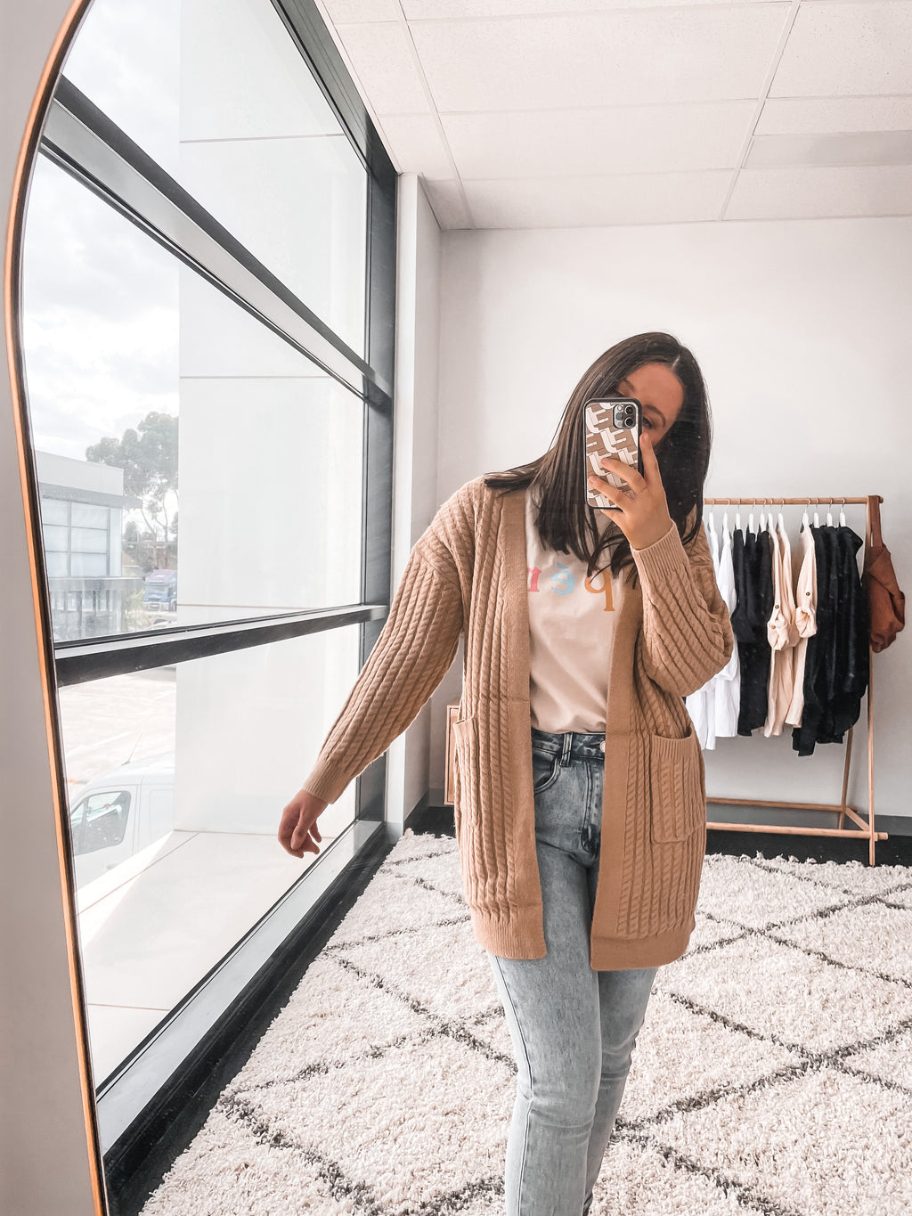Goldie Cardigan - Tan