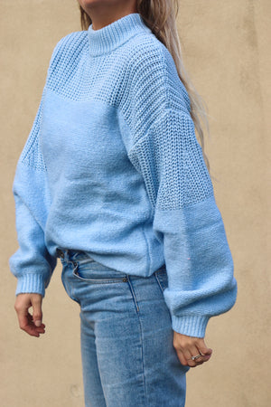 Cotton Candy Knit - Sky Blue