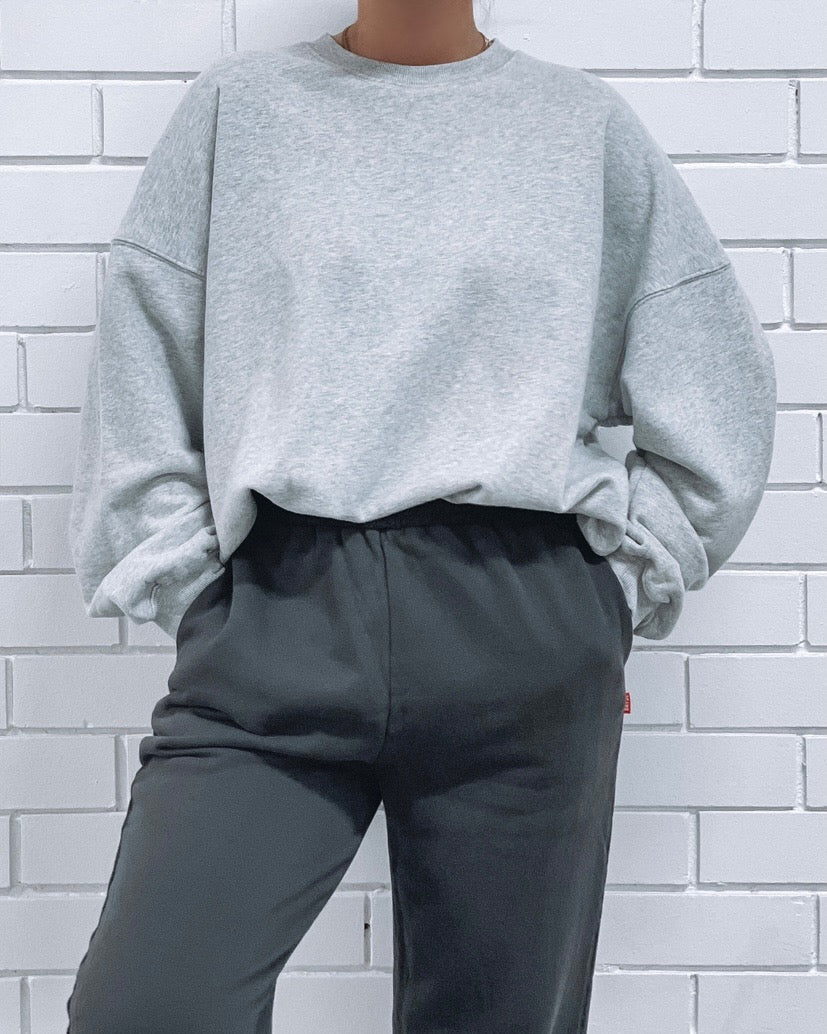 Oversized sweater - Grey Marle