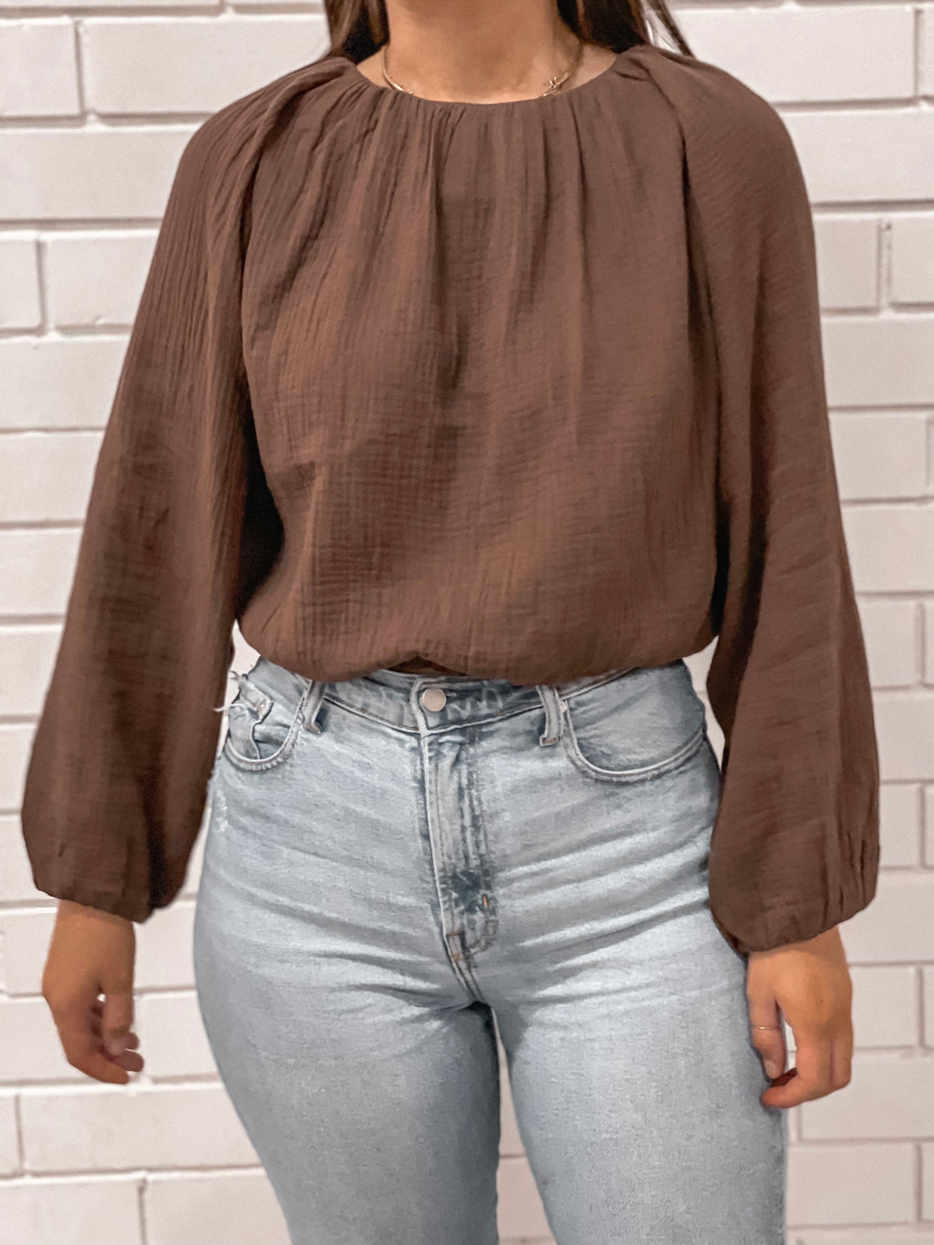 Chloe Top - Chocolate