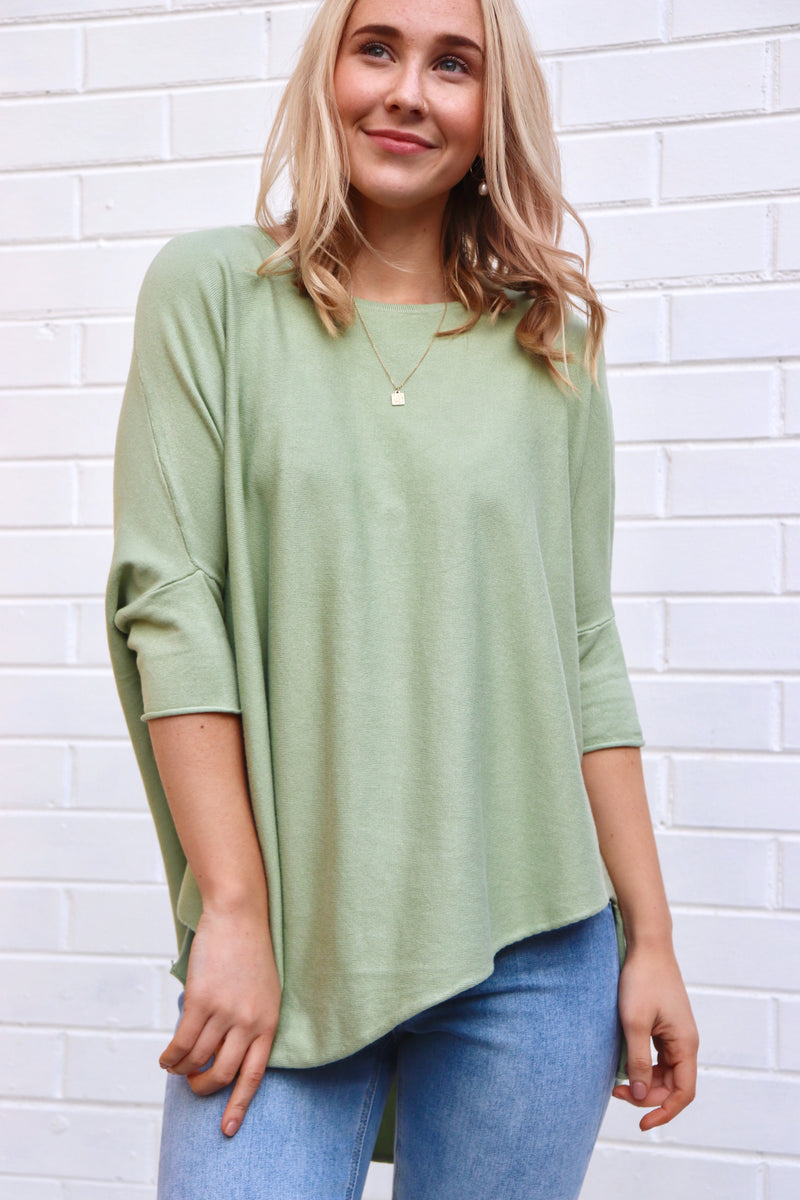 Cody Knit Top - Green