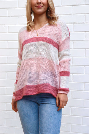 Strawberry's & Cream Knit