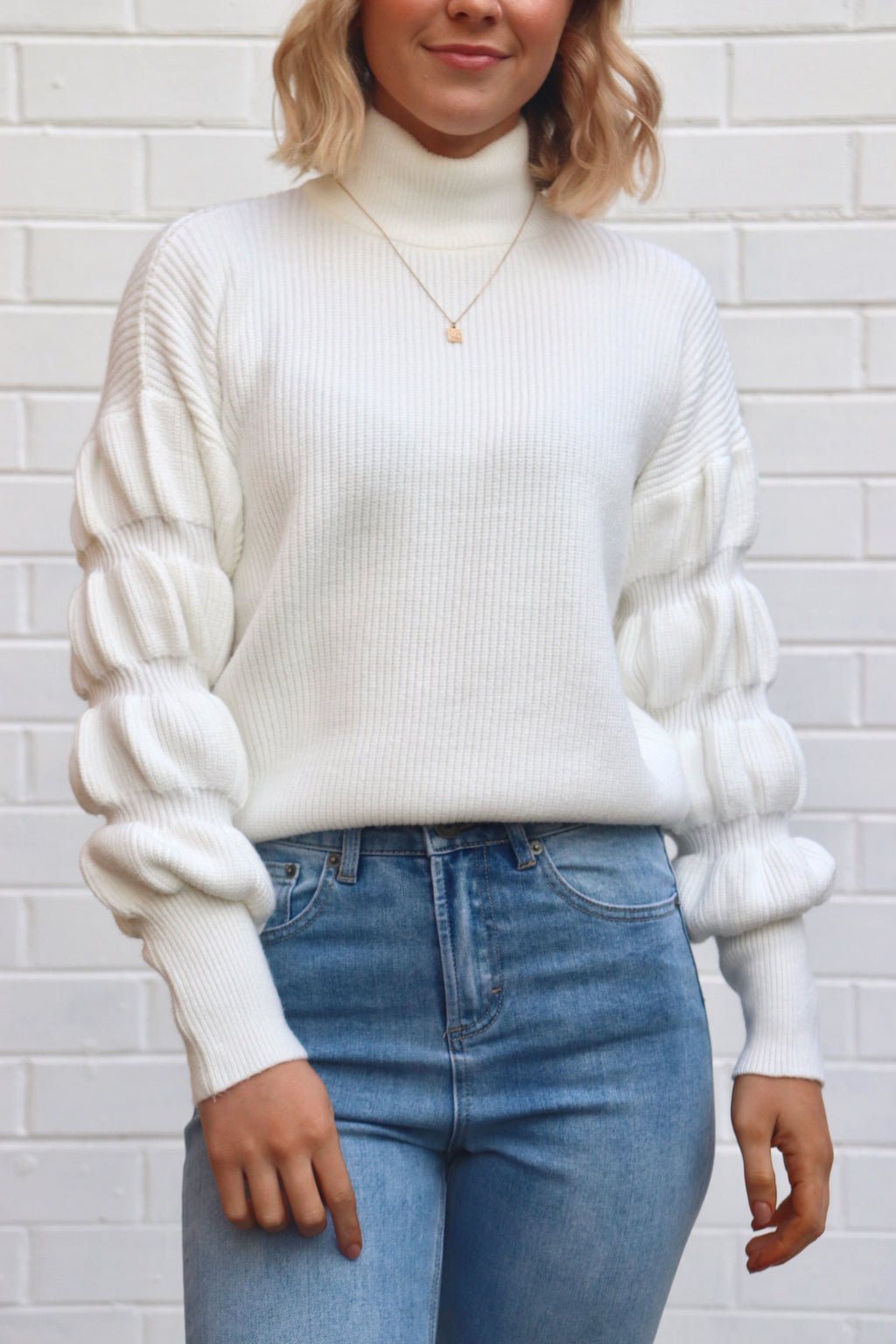 Posey Knit - White