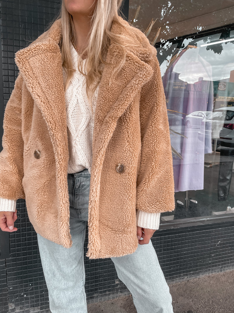 Wolfe Teddy Jacket - Camel