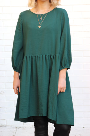Tilly Dress - Emerald Green