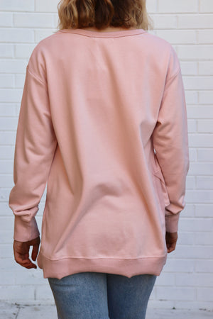 Ulverstone Sweater - Blush Pink