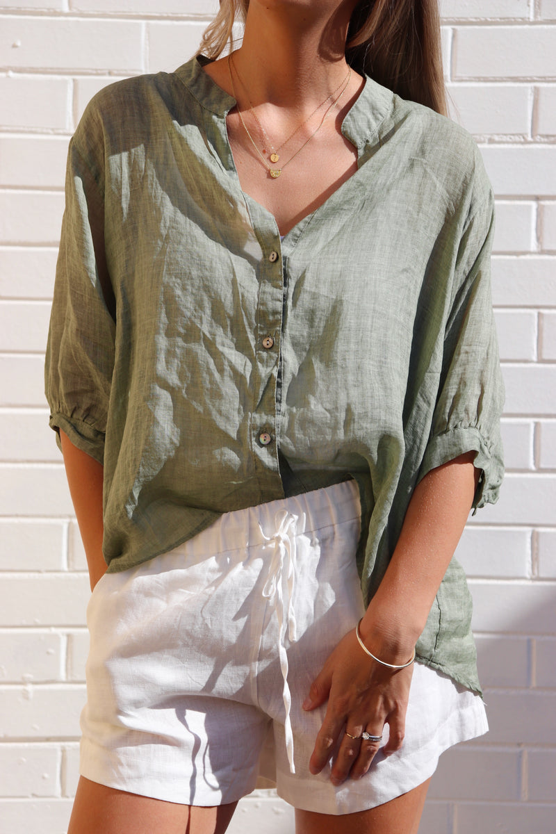 Sweetest Thing Shirt - Khaki
