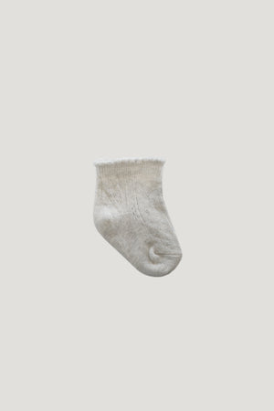 Lace Sock - Oatmeal