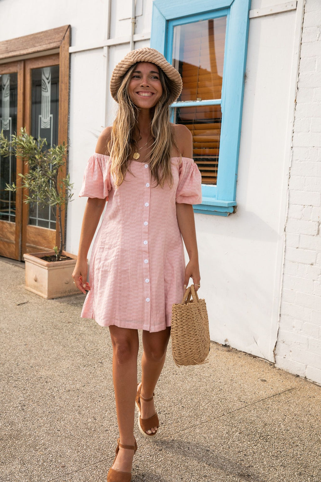 Coco Mini Dress - Blush Pink