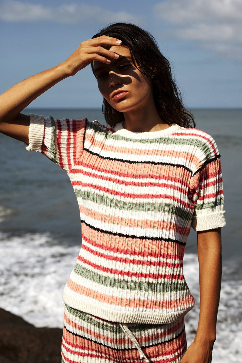 Rhia Tee - Retro Stripe