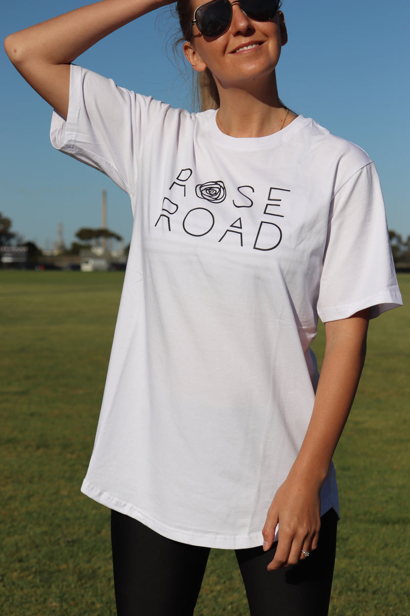 Rose Road Logo Tee - White